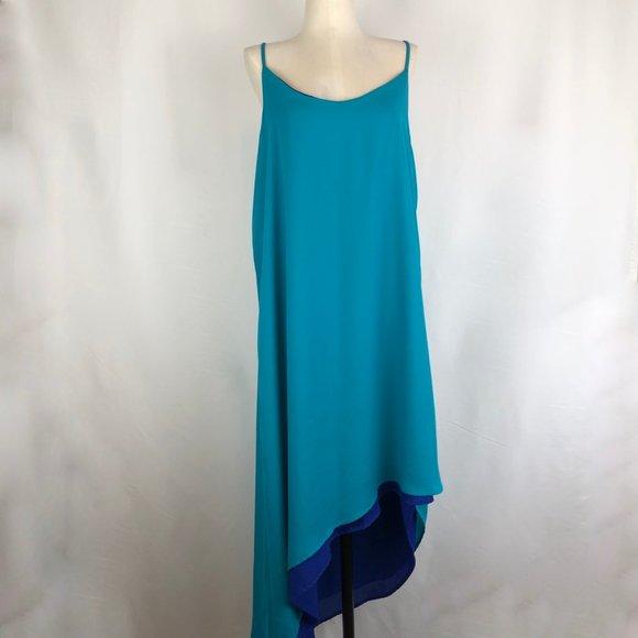 Mark. Reversible Asymmetrical Hem Slip Dress